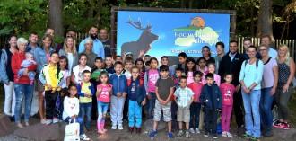 Flüchtlingskinder im Hochwildpark