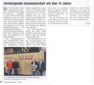 Schäfer fährt fürs Bundeswehr-Sozialwerk